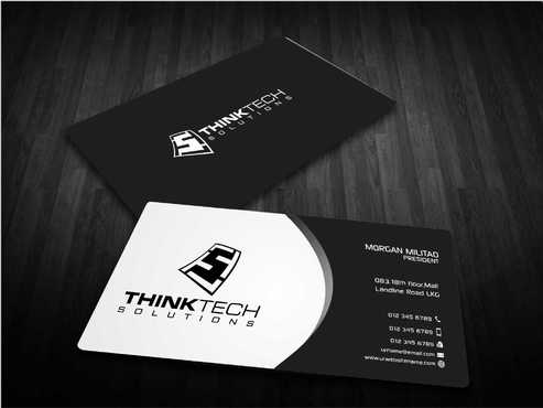 Think Tech Solutions Business Cards and Stationery  Draft # 255 by Dawson