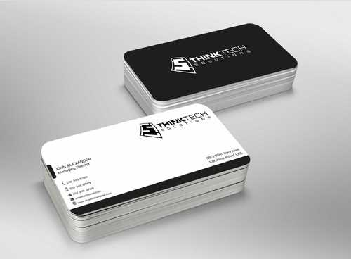 Think Tech Solutions Business Cards and Stationery  Draft # 257 by Dawson