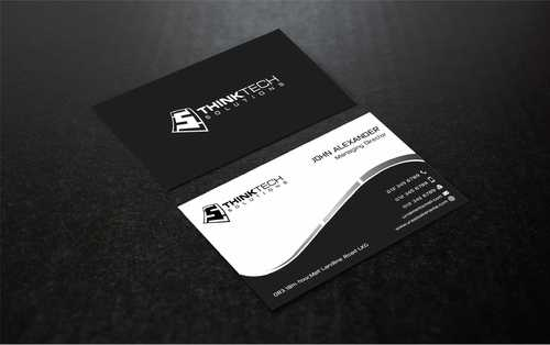 Think Tech Solutions Business Cards and Stationery  Draft # 260 by Dawson