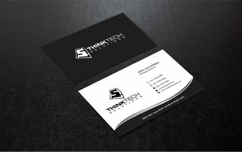 Think Tech Solutions Business Cards and Stationery  Draft # 261 by Dawson
