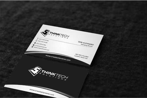 Think Tech Solutions Business Cards and Stationery  Draft # 262 by Dawson