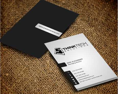 Think Tech Solutions Business Cards and Stationery  Draft # 263 by Dawson