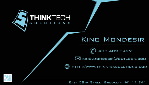 Think Tech Solutions Business Cards and Stationery  Draft # 276 by lamarouzi