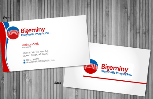 Bigeminy Diagnostic Imaging Inc. Business Cards and Stationery  Draft # 6 by sevensky