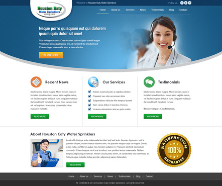 Houston-Katy-Water-Sprinklers Complete Web Design Solution  Draft # 5 by timefortheweb