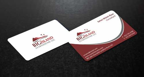 Big Island Ultrasound, LLC Business Cards and Stationery  Draft # 60 by Dawson