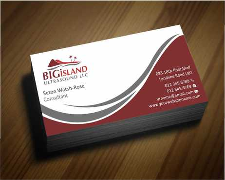 Big Island Ultrasound, LLC Business Cards and Stationery  Draft # 61 by Dawson