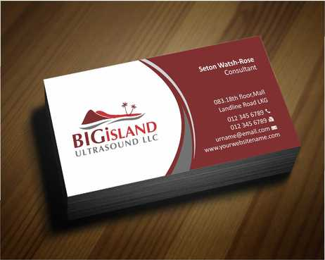 Big Island Ultrasound, LLC Business Cards and Stationery  Draft # 62 by Dawson