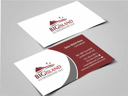 Big Island Ultrasound, LLC Business Cards and Stationery  Draft # 63 by Dawson