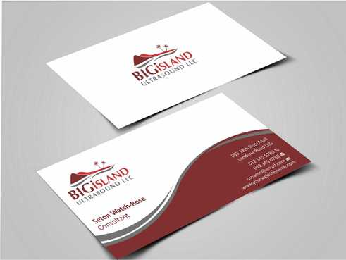 Big Island Ultrasound, LLC Business Cards and Stationery  Draft # 64 by Dawson