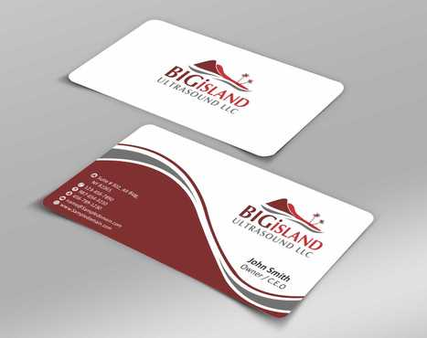 Big Island Ultrasound, LLC Business Cards and Stationery  Draft # 65 by Dawson
