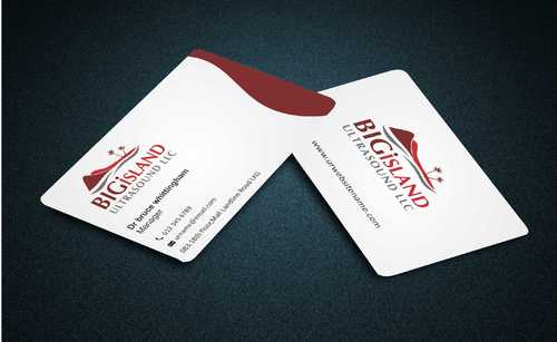 Big Island Ultrasound, LLC Business Cards and Stationery  Draft # 66 by Dawson