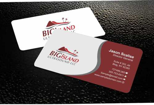 Big Island Ultrasound, LLC Business Cards and Stationery  Draft # 67 by Dawson
