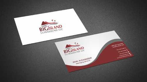 Big Island Ultrasound, LLC Business Cards and Stationery  Draft # 68 by Dawson