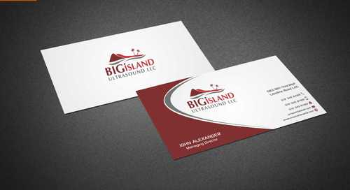 Big Island Ultrasound, LLC Business Cards and Stationery  Draft # 69 by Dawson