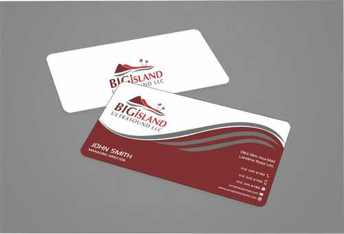 Big Island Ultrasound, LLC Business Cards and Stationery  Draft # 71 by Dawson