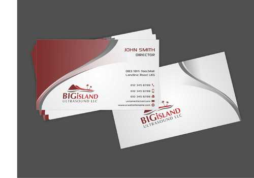 Big Island Ultrasound, LLC Business Cards and Stationery  Draft # 72 by Dawson