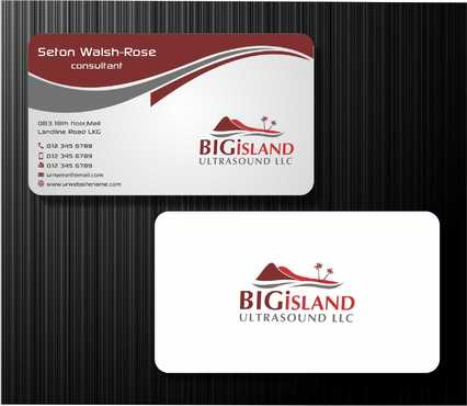 Big Island Ultrasound, LLC Business Cards and Stationery  Draft # 73 by Dawson