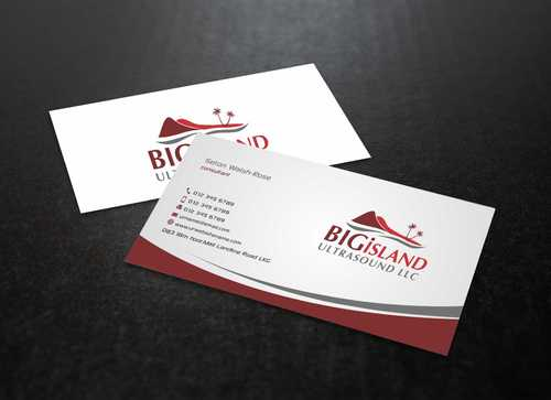 Big Island Ultrasound, LLC Business Cards and Stationery  Draft # 74 by Dawson