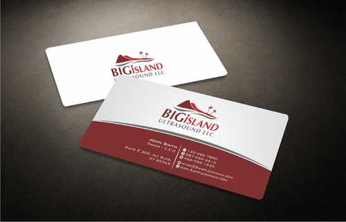 Big Island Ultrasound, LLC Business Cards and Stationery  Draft # 75 by Dawson