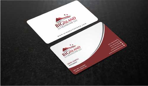 Big Island Ultrasound, LLC Business Cards and Stationery  Draft # 76 by Dawson
