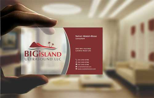 Big Island Ultrasound, LLC Business Cards and Stationery  Draft # 78 by Dawson
