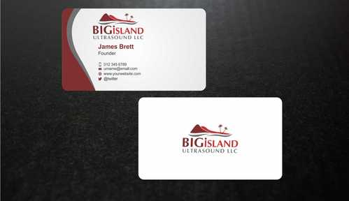 Big Island Ultrasound, LLC Business Cards and Stationery  Draft # 79 by Dawson