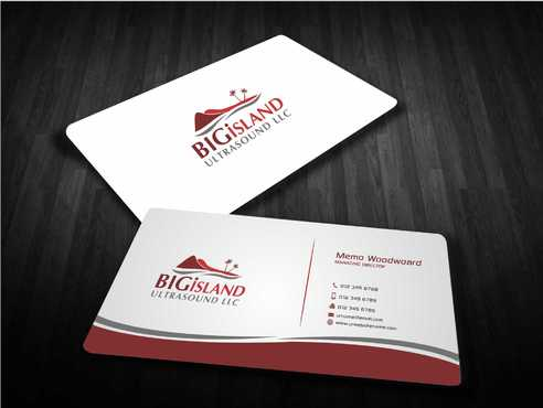 Big Island Ultrasound, LLC Business Cards and Stationery  Draft # 80 by Dawson