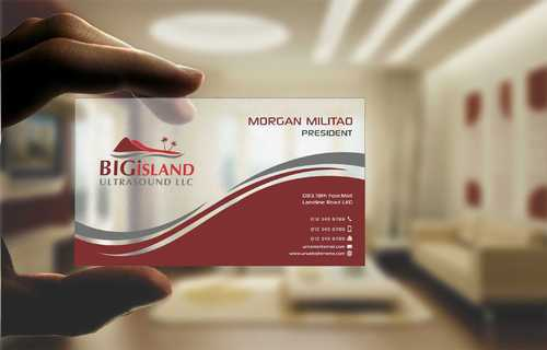 Big Island Ultrasound, LLC Business Cards and Stationery  Draft # 81 by Dawson