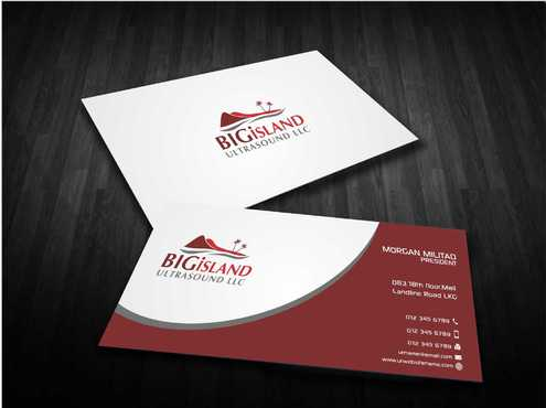 Big Island Ultrasound, LLC Business Cards and Stationery  Draft # 82 by Dawson