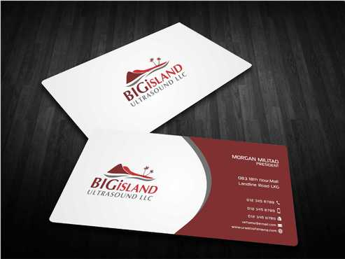 Big Island Ultrasound, LLC Business Cards and Stationery  Draft # 83 by Dawson