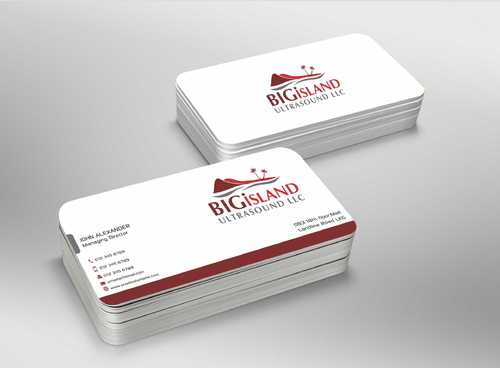 Big Island Ultrasound, LLC Business Cards and Stationery  Draft # 86 by Dawson