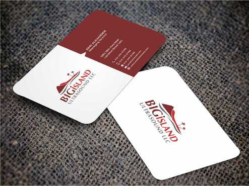 Big Island Ultrasound, LLC Business Cards and Stationery  Draft # 87 by Dawson