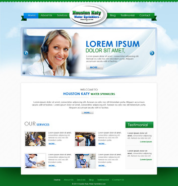 Houston-Katy-Water-Sprinklers Complete Web Design Solution  Draft # 63 by timefortheweb