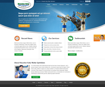 Houston-Katy-Water-Sprinklers Complete Web Design Solution  Draft # 64 by timefortheweb