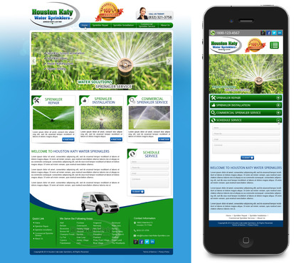 Houston-Katy-Water-Sprinklers Complete Web Design Solution  Draft # 96 by mycrodesigns
