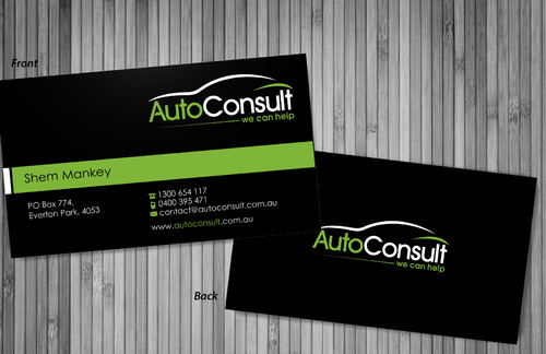 Auto Consult Business Cards and Stationery  Draft # 77 by sevensky