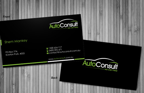 Auto Consult Business Cards and Stationery  Draft # 79 by sevensky