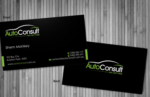 Auto Consult Business Cards and Stationery  Draft # 82 by sevensky