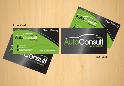 Auto Consult Business Cards and Stationery  Draft # 84 by 14stars