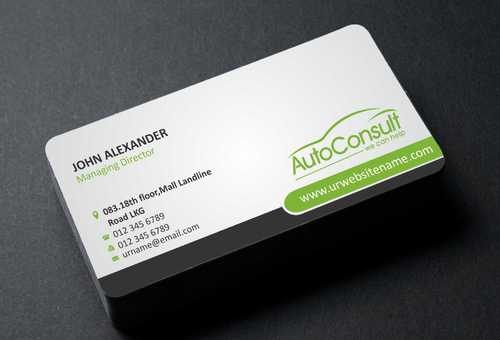 Auto Consult Business Cards and Stationery  Draft # 96 by Dawson