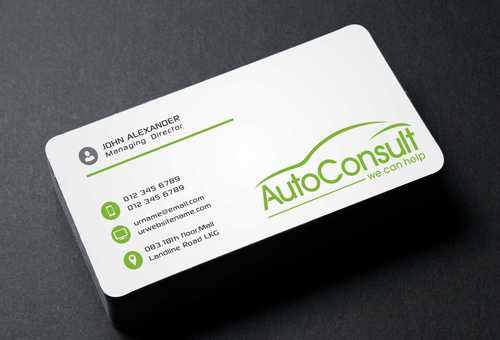 Auto Consult Business Cards and Stationery  Draft # 103 by Dawson