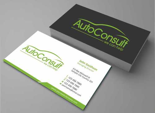 Auto Consult Business Cards and Stationery  Draft # 128 by Dawson