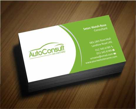 Auto Consult Business Cards and Stationery  Draft # 141 by Dawson