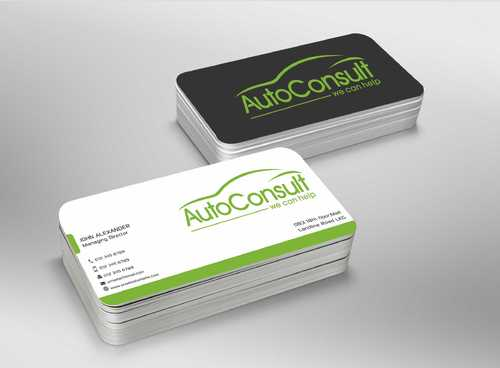 Auto Consult Business Cards and Stationery  Draft # 164 by Dawson