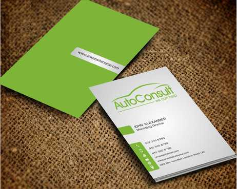 Auto Consult Business Cards and Stationery  Draft # 175 by Dawson