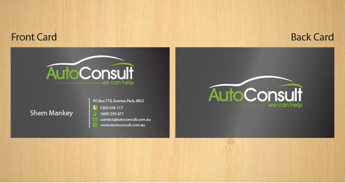Auto Consult Business Cards and Stationery  Draft # 177 by 14stars