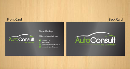 Auto Consult Business Cards and Stationery  Draft # 181 by 14stars