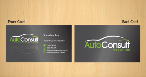 Auto Consult Business Cards and Stationery  Draft # 182 by 14stars