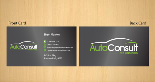 Auto Consult Business Cards and Stationery  Draft # 185 by 14stars